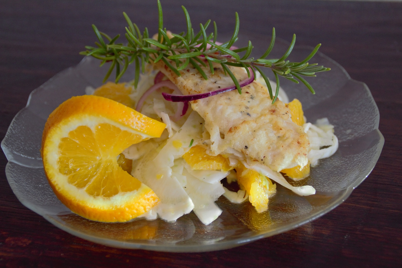 Panista_Blog_Rezept_Gebratenes Pangasius Filet auf Fenchel-Orangen-Beet