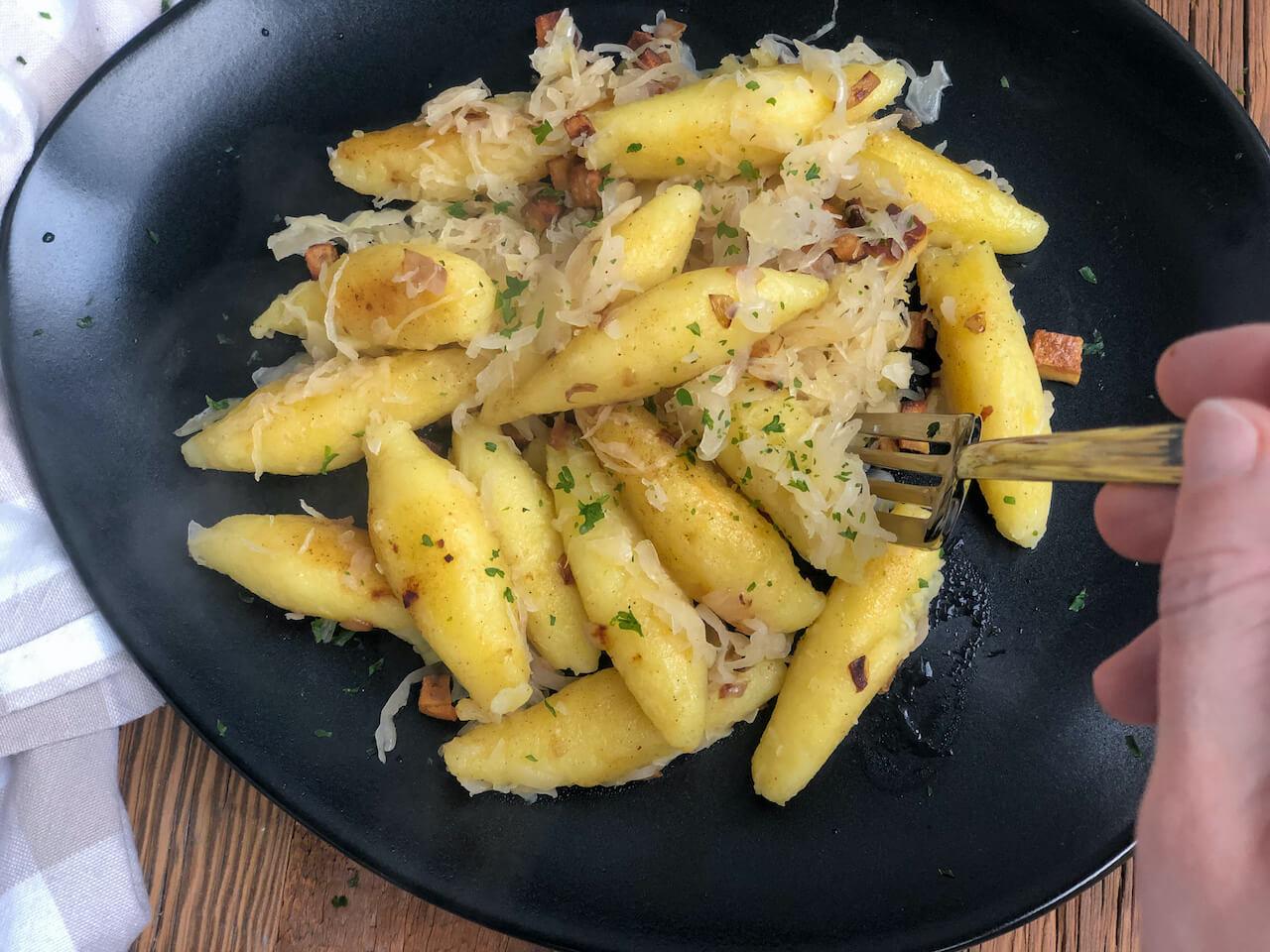 Panista_Blog_Rezepte_Glutenfreie Schupfnudeln mit Sauerkraut