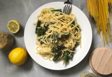 Panista_Blog_Rezepte_Glutenfreie Spaghetti mit Zitronensauce und grünem Spargel