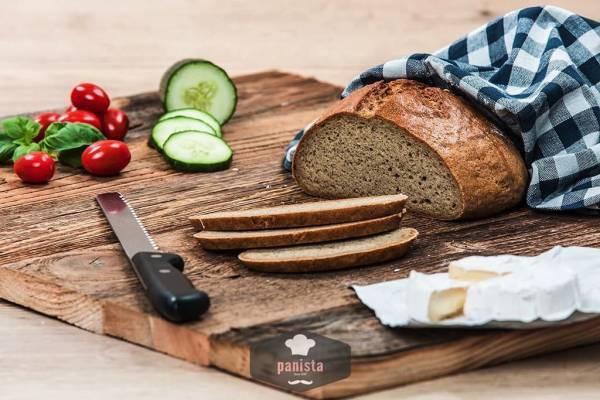 glutenfreies Hanfbrot-Seitenansicht