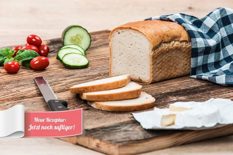 glutenfreies helles Brot-Seitenansicht