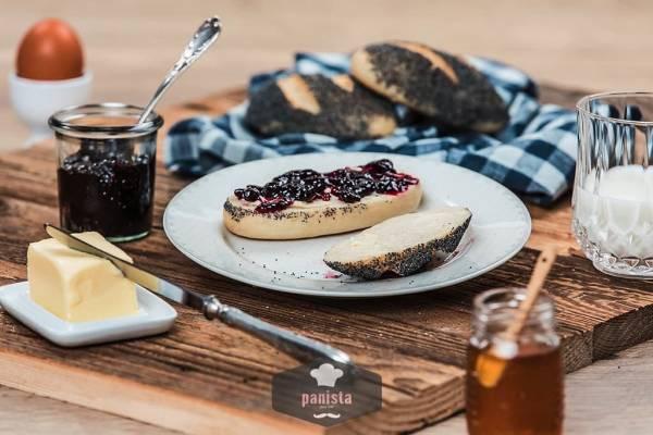glutenfreie Mohnbrötchen-Seitenansicht