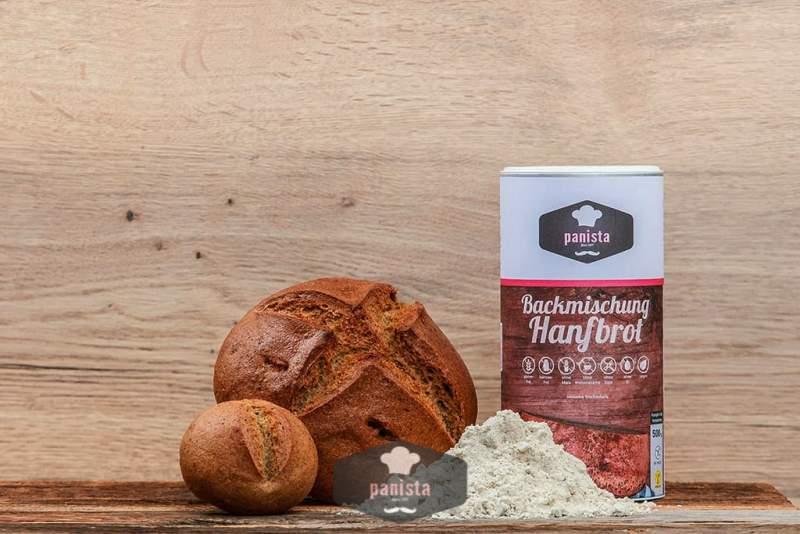 Glutenfreie Backmischung für Hanfbrot