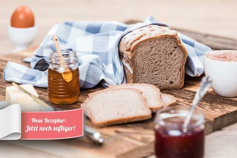 glutenfreies Teffbrot-Seitenansicht
